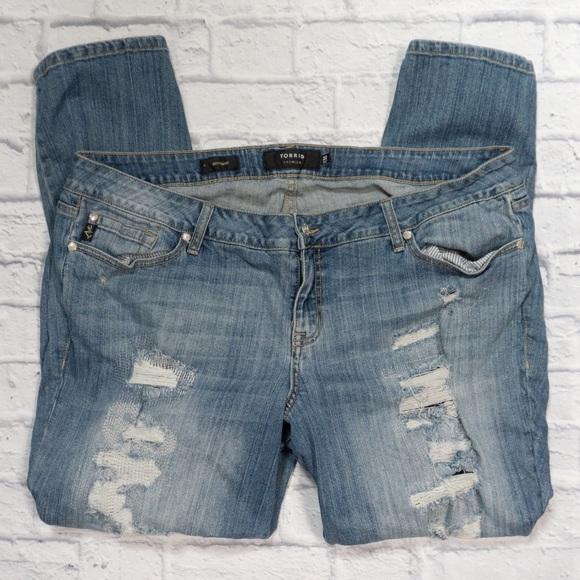 torrid Denim - TORRID distressed boyfriend jeans SZ 22